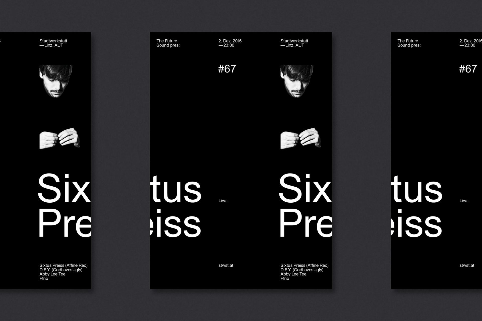 Steiner Grafik Plakatreihe: Future Sound, Linz, AUT