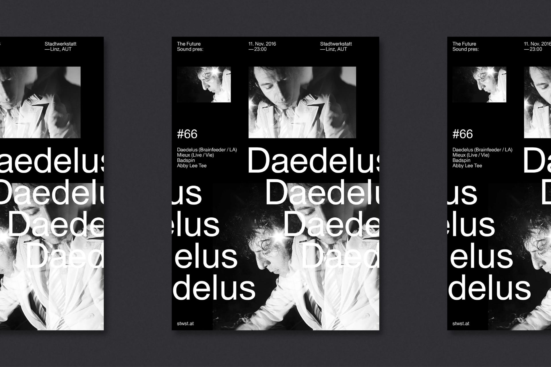 Steiner Grafik Plakatgestaltung: Future Sound, Linz, AUT