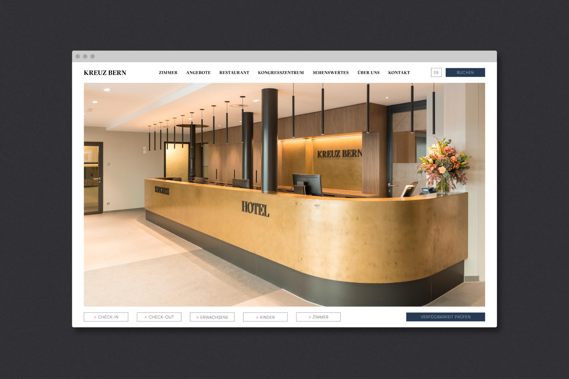 Steiner Grafik Corporate & Webdesign: Hotel Kreuz, Bern