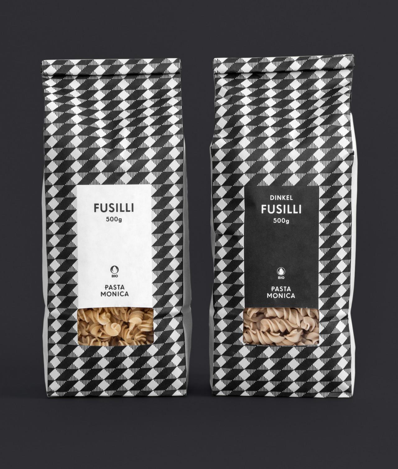 Steiner Grafik Packaging: Pasta Monica, Zug