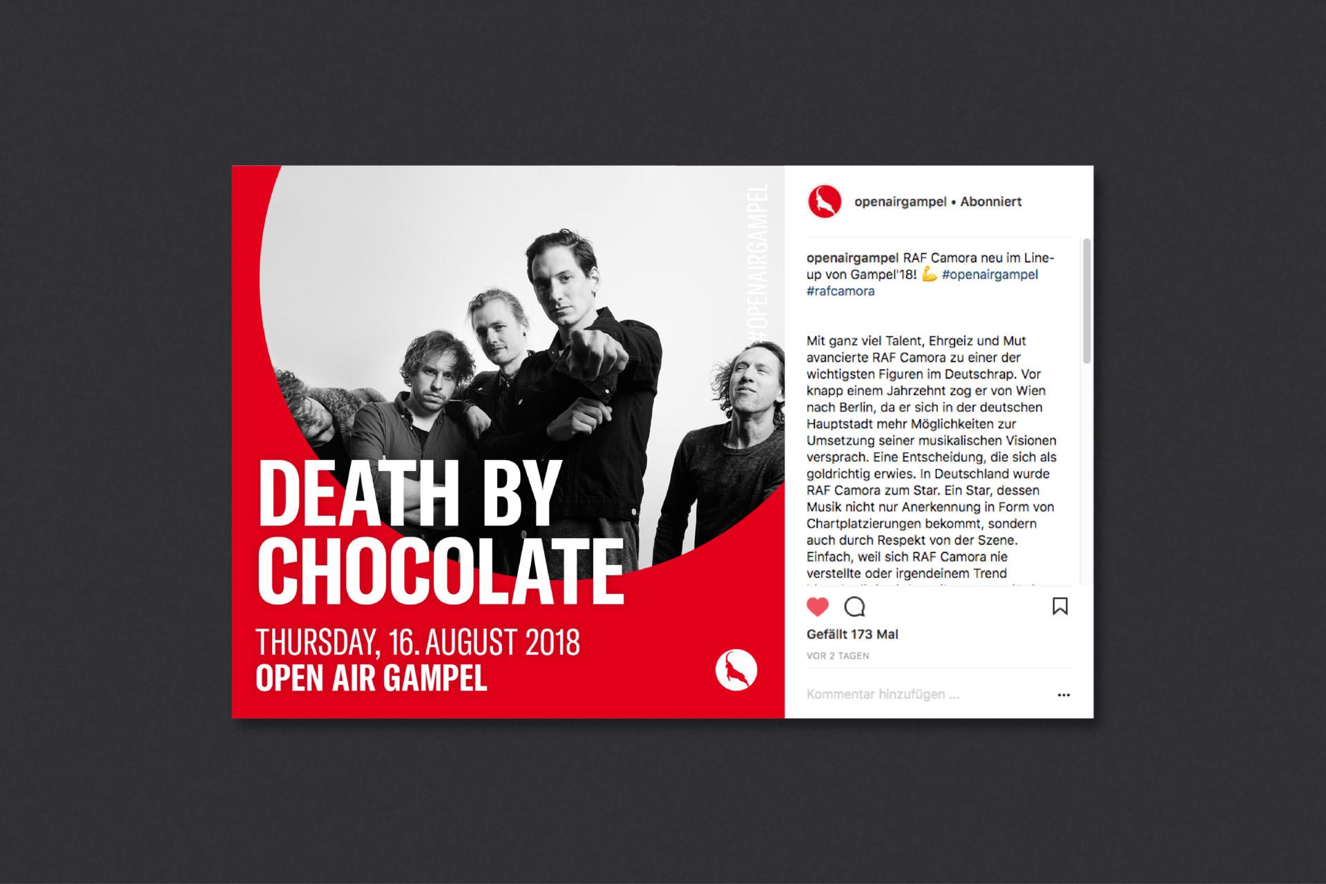 Steiner Grafik Kampagne: Open Air Gampel 2018